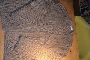 Veste tricotée en grosses mailles beige acrylique