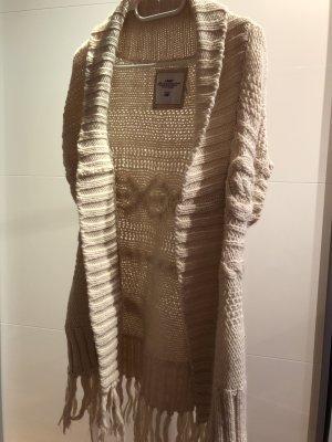 H&M Chaleco de punto blanco puro-blanco
