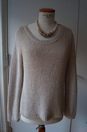 Grobmaschen Pullover Gr.38 beige