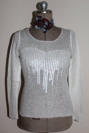 grobmaschiger Pullover mit Pailletten Casual Look