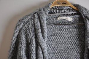 Zara Veste tricotée en grosses mailles gris