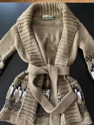 Closed Coarse Knitted Jacket multicolored