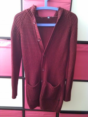 s.Oliver Veste tricotée en grosses mailles bordeau