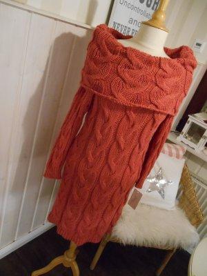 Long Sweater raspberry-red-magenta mixture fibre