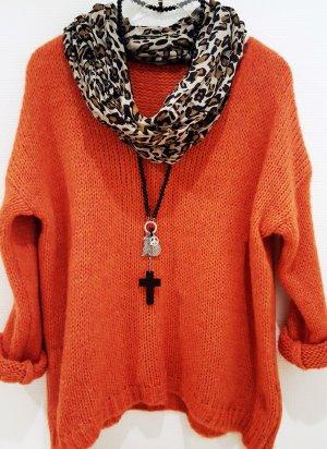Grobstrick # Pullover # V-Ausschnitt # Trend