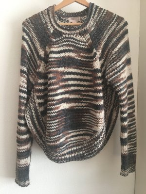 grobstrick pullover von forever 21 in poncho-form