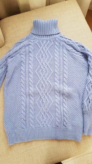 Grobstrick-Pullover, Wollpullover, Rollkragen