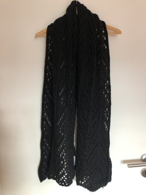 Grobstrick Schal in schwarz