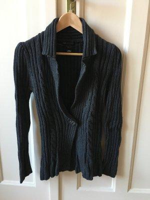Mango Casual Sportswear Cárdigan de punto grueso gris oscuro-gris Algodón