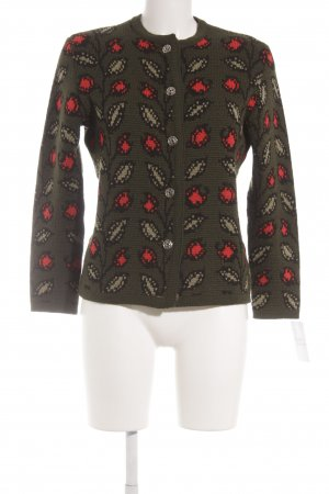 Coarse Knitted Jacket floral pattern vintage look