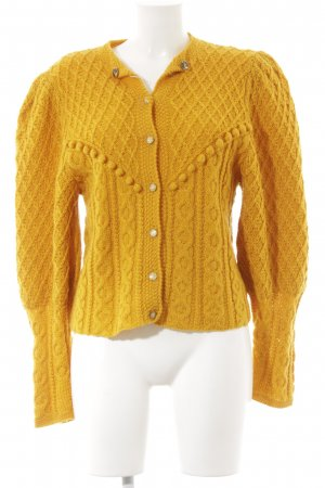 Coarse Knitted Jacket light orange extravagant style