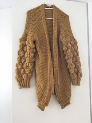 Coarse Knitted Jacket gold orange