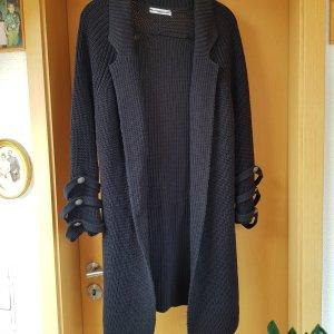 Mango Gebreide jas zwart Katoen