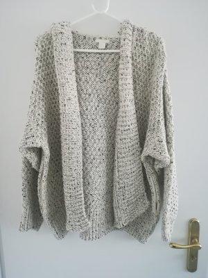 H&M Cardigan a maglia grossa beige chiaro-nero