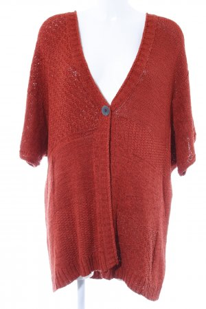 Coarse Knitted Jacket russet casual look