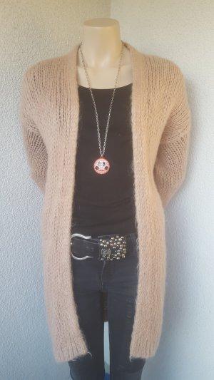 Be Tween Veste tricotée en grosses mailles rose chair-beige