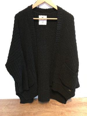 Hollister Veste tricotée en grosses mailles noir polyester