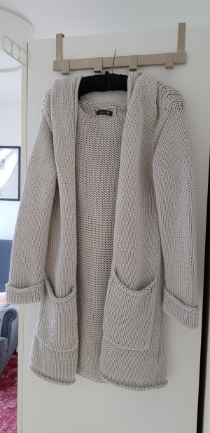 Marc O'Polo Coarse Knitted Jacket light grey cotton