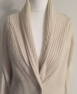 COS Coarse Knitted Jacket cream