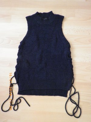 Atmosphere Coarse Knitted Sweater dark blue polyacrylic