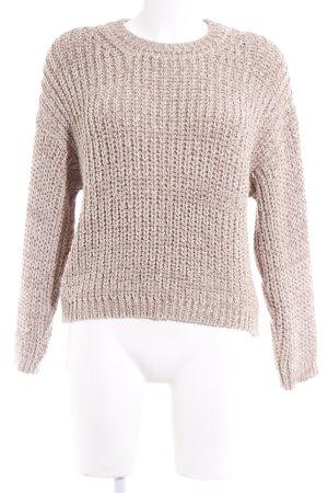 Pullover a maglia grossa beige stile casual
