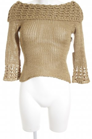 Grobstrickpullover beige Casual-Look