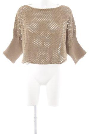 Pullover a maglia grossa color cammello stile casual
