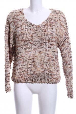 Coarse Knitted Sweater light brown-cream fluffy