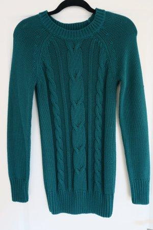 Coarse Knitted Sweater petrol-green