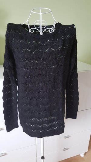 Atmosphere Coarse Knitted Sweater black
