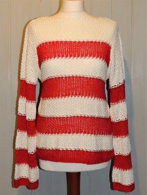 Heine Coarse Knitted Sweater red-white mixture fibre