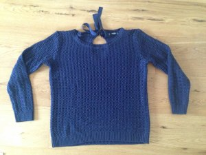Mango Basics Coarse Knitted Sweater dark blue