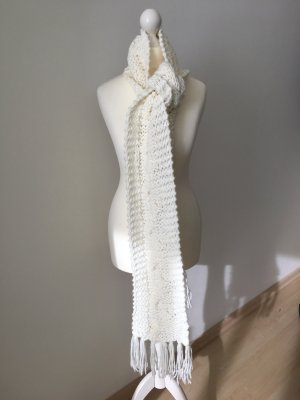 H&M Knitted Scarf cream-natural white