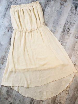 Bodyflirt Vestido de chifón crema-beige claro