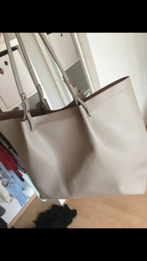 H&M Shopper cream-light grey