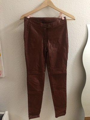 Haddudyi Leather Trousers multicolored