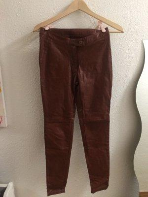 Haddudyi Pantalon en cuir multicolore