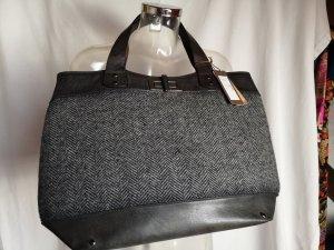 Borsa shopper nero-grigio scuro