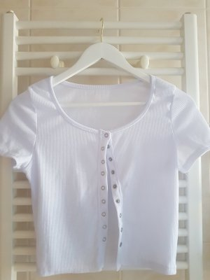 Cropped top wit-zilver