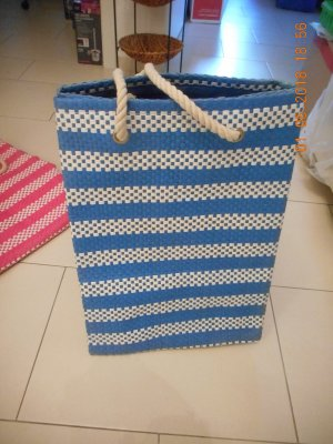 Carry Bag blue-natural white