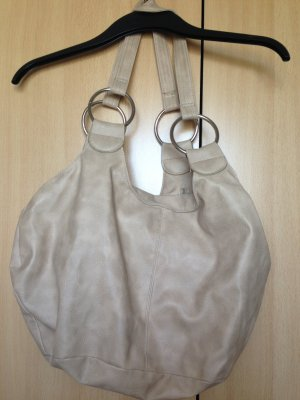 große beige Handtasche