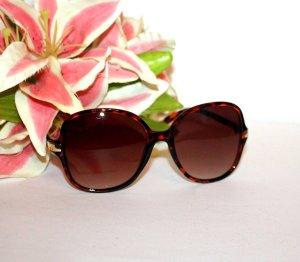 Gafas Retro marrón oscuro-color oro