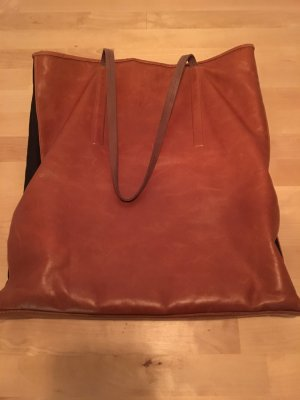 Lili Mill Carry Bag cognac-coloured-black brown leather