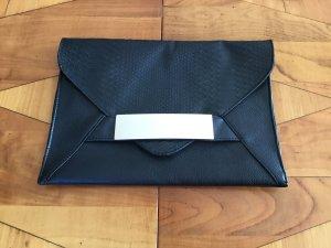 Große Briefumschlag-Clutch schwarz