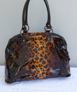 große Buffalo Schultertasche Shopper - Leo, Leopard, braun Handtasche Tasche