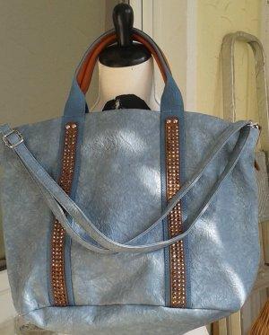 Shopper pale blue