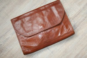 Clutch brown leather