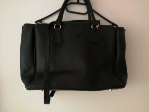 Handbag black-gold-colored
