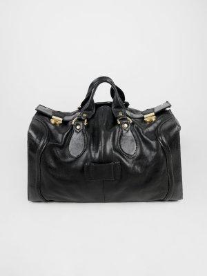 16d60b205d234 Travel Bag black-gold-colored leather