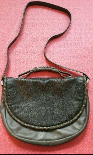 Große edle Vintage Handtasche Manufaktur *Goldpfeil*, sehr gut, Leder, ca. 70er Jahre